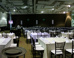Setting the conention center for an event